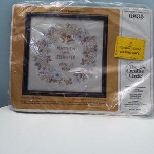 '80s Vintage Wedding Embroidery Kit